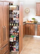 FULL HEIGHT STANDARD LARDER PULL-OUT UNIT (Innostor Range) for 300mm wide cabinet (ECF WWH7231)